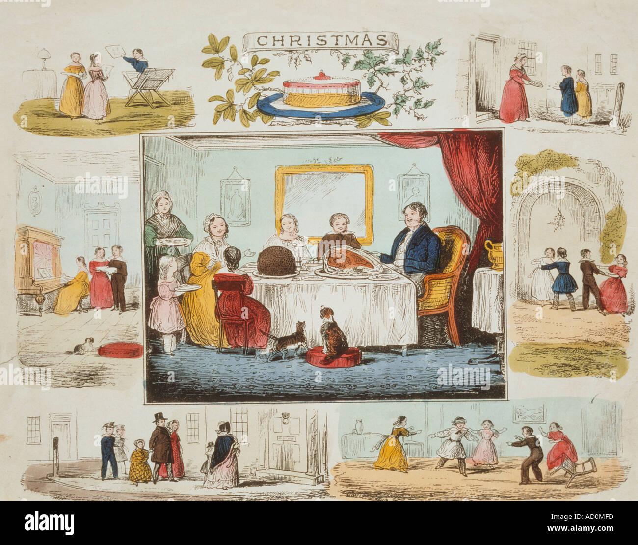 Broadsheet. England, 19. Jahrhundert. Stockbild