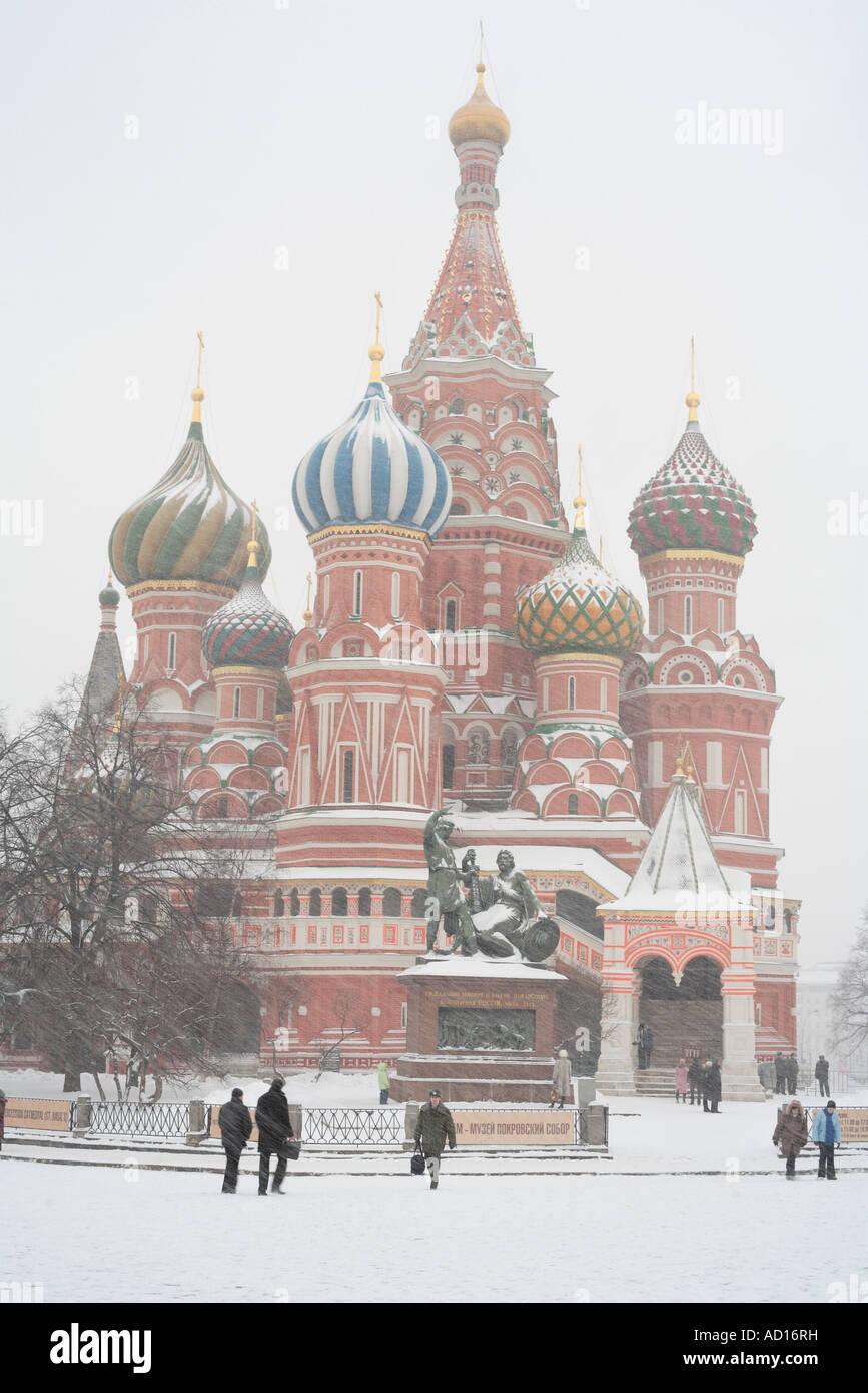 Basilius Kathedrale, Roter Platz, Moskau, Russland Stockbild