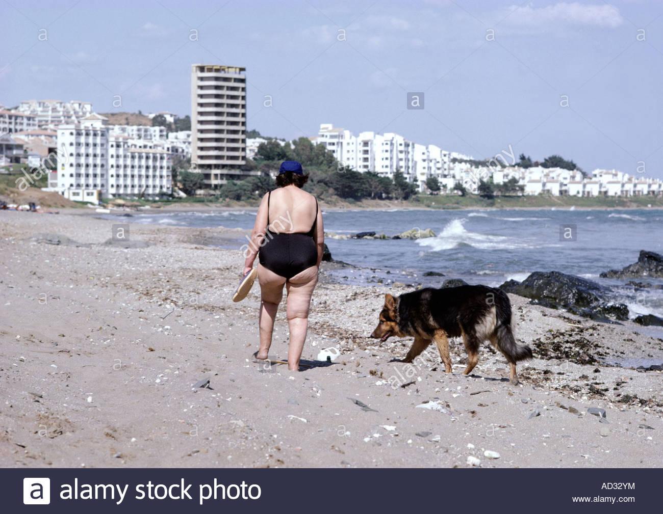 Fette Euter Am Strand
