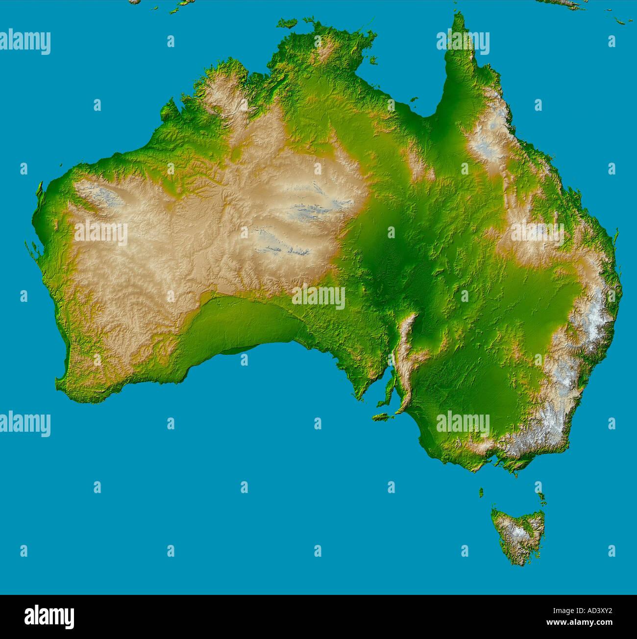 Kontinent Australien Stockbild