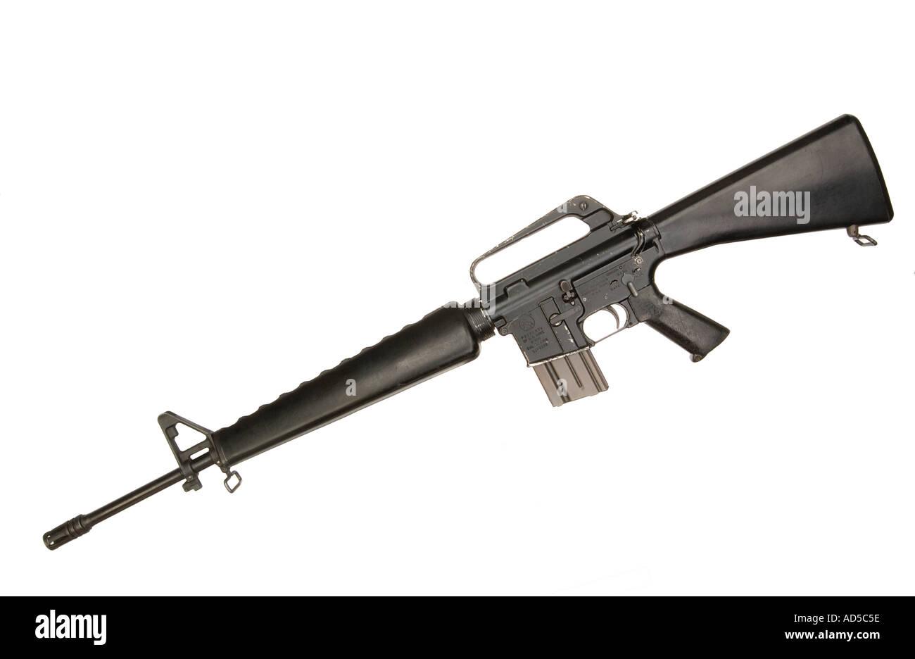 Colt M16 A Gewehr Stockbild