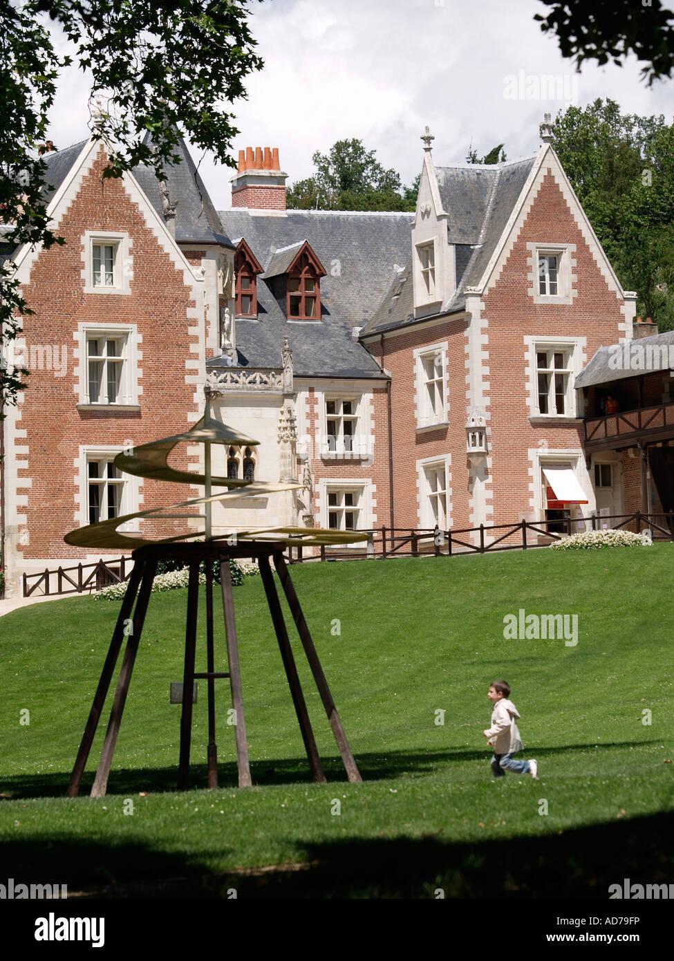 Leonardo Da Vinci Haus das chateau du clos luce in amboise ist das haus, wo leonardo da
