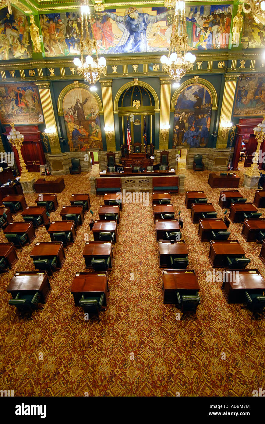 In den Senat Kammern auf das State Capitol Building in Harrisburg ...