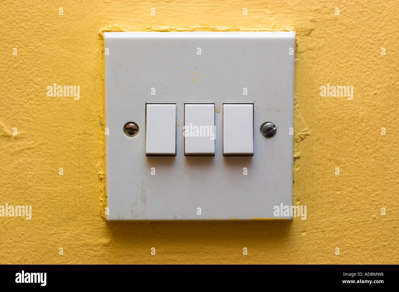 Drei Schalter Stockfoto, Bild: 7639703 - Alamy