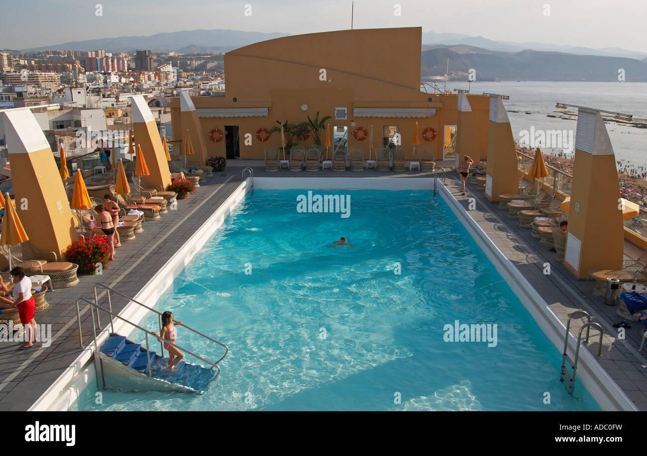 Dachterrasse Mit Pool Hotel Reina Isabel Las Canteras Las Palmas