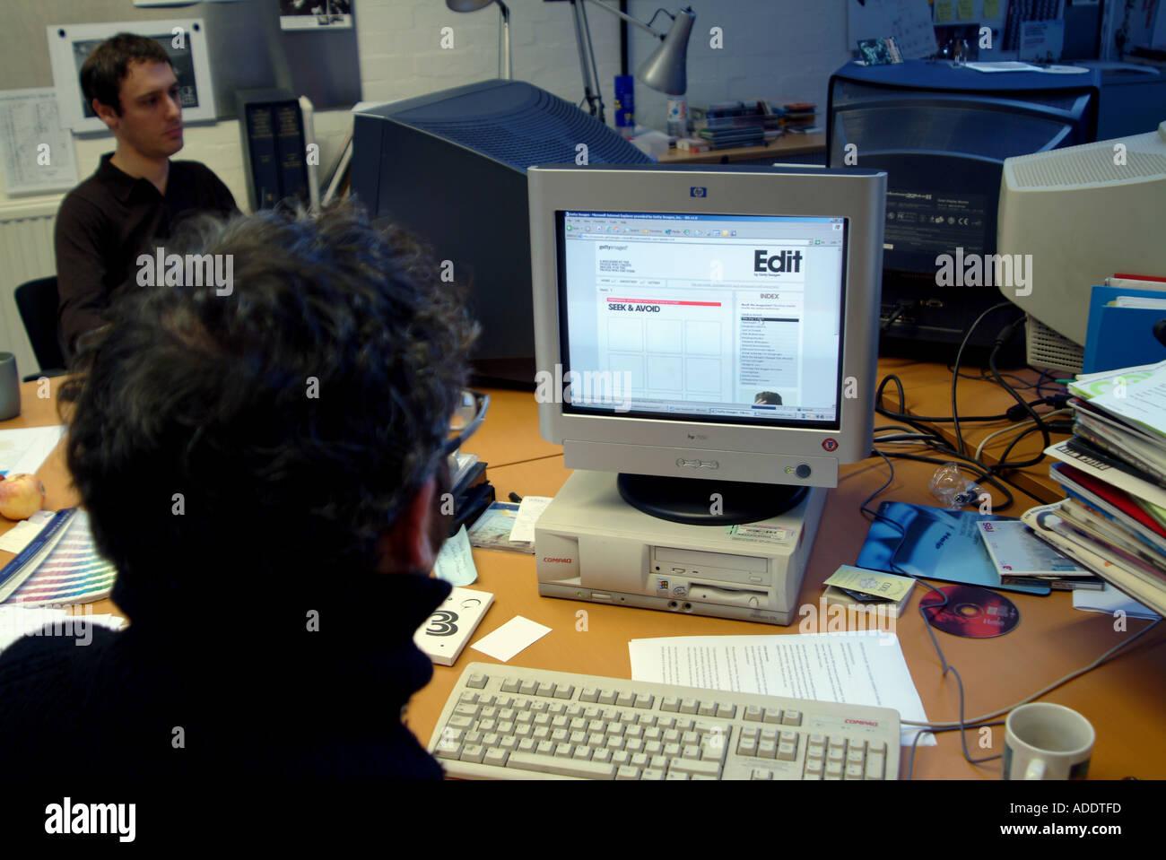 APRIL 2005 VON GETTY IMAGES BÜRO IN LONDON Stockbild