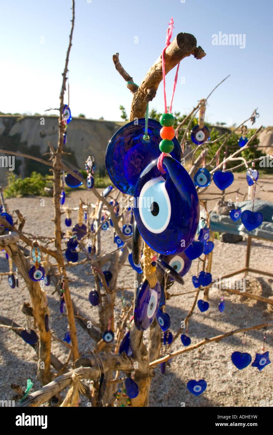 Evil Eye-Baum in Kappadokien, Türkei Stockbild