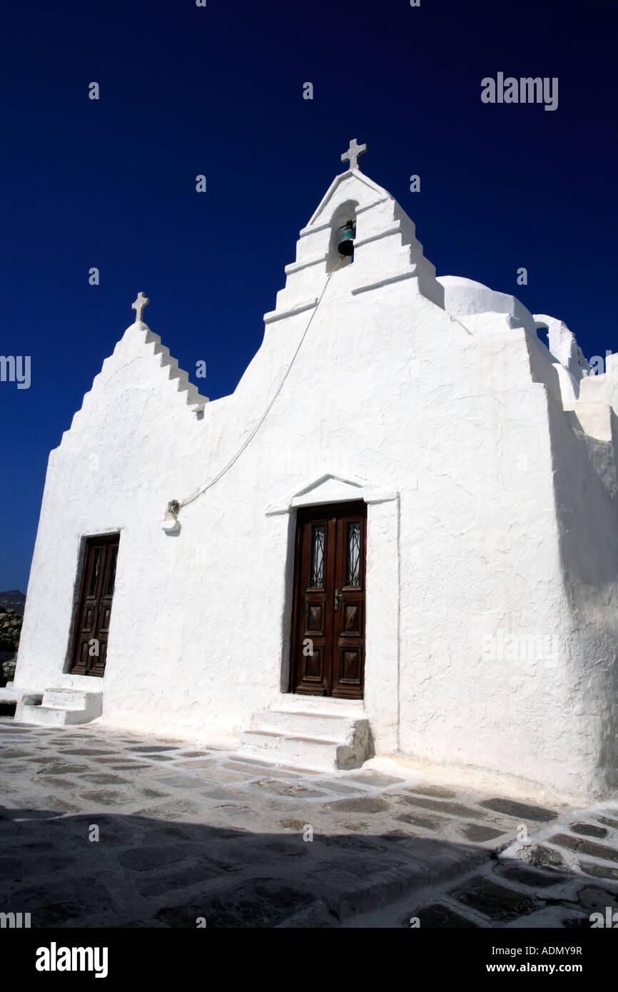 Panagia Paraportiani Kirche Mykonos-Stadt Stockfoto