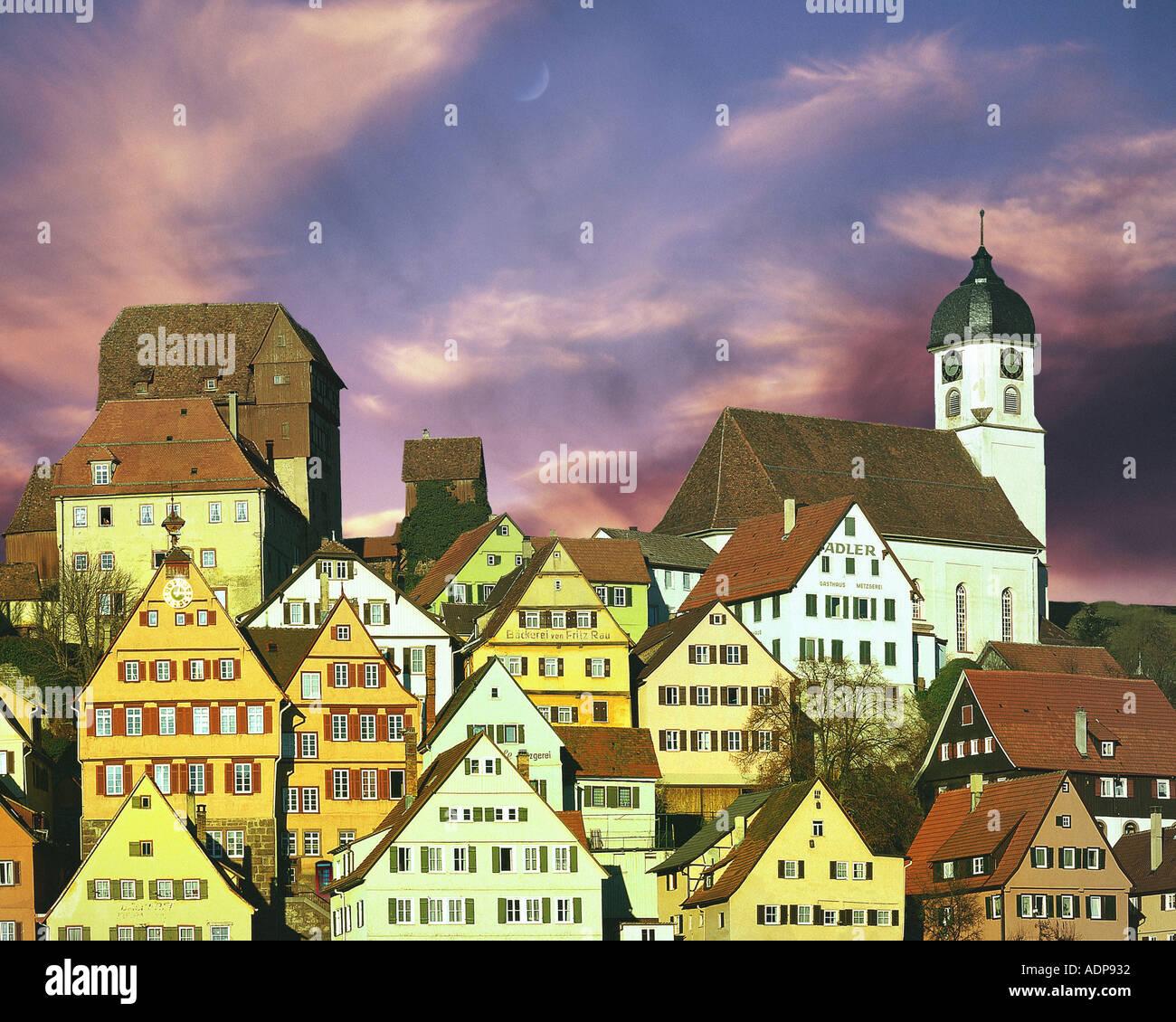 DE - Baden-Württemberg: historische Altensteig Stockbild
