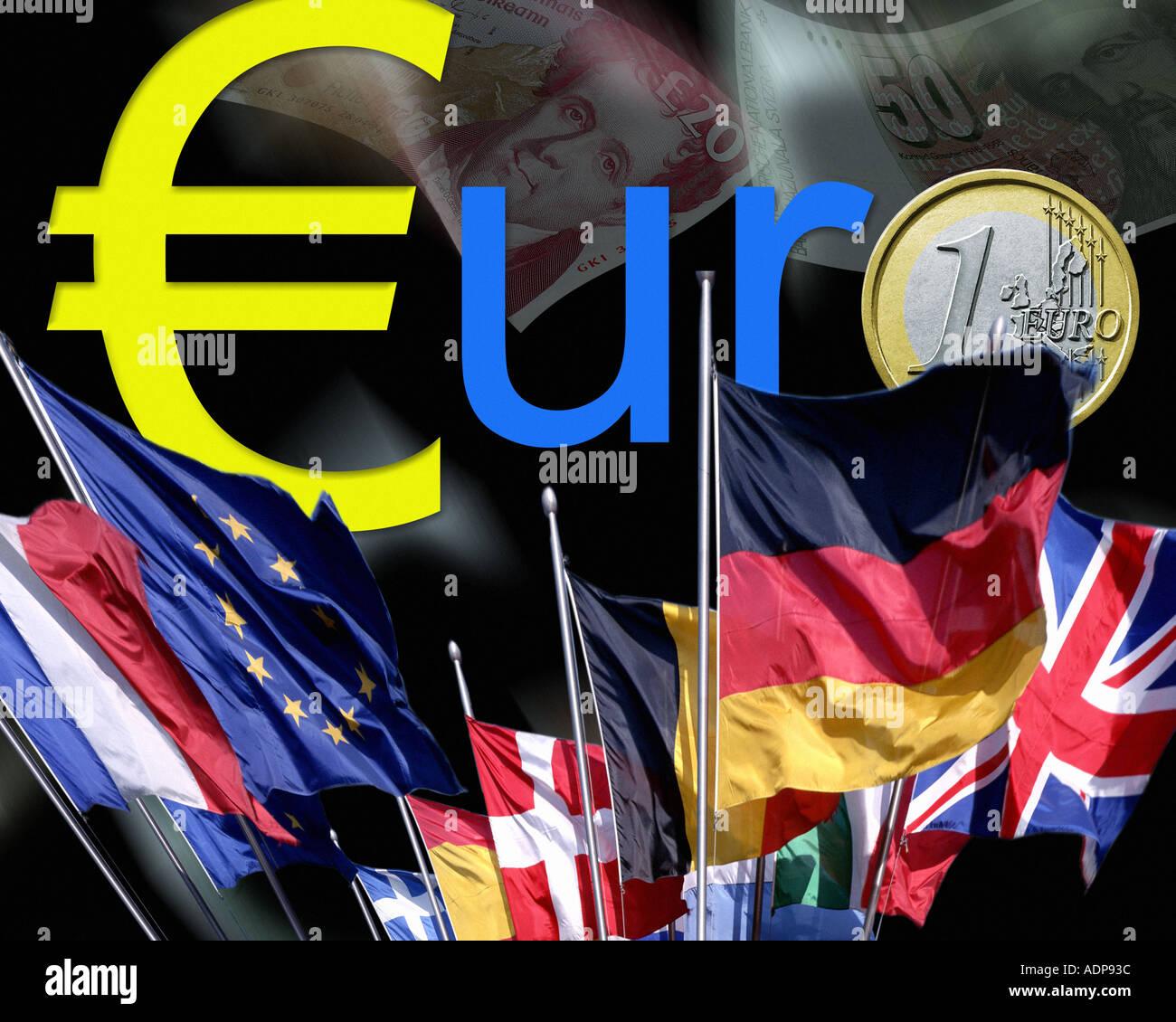 Konzept: Europa Stockbild
