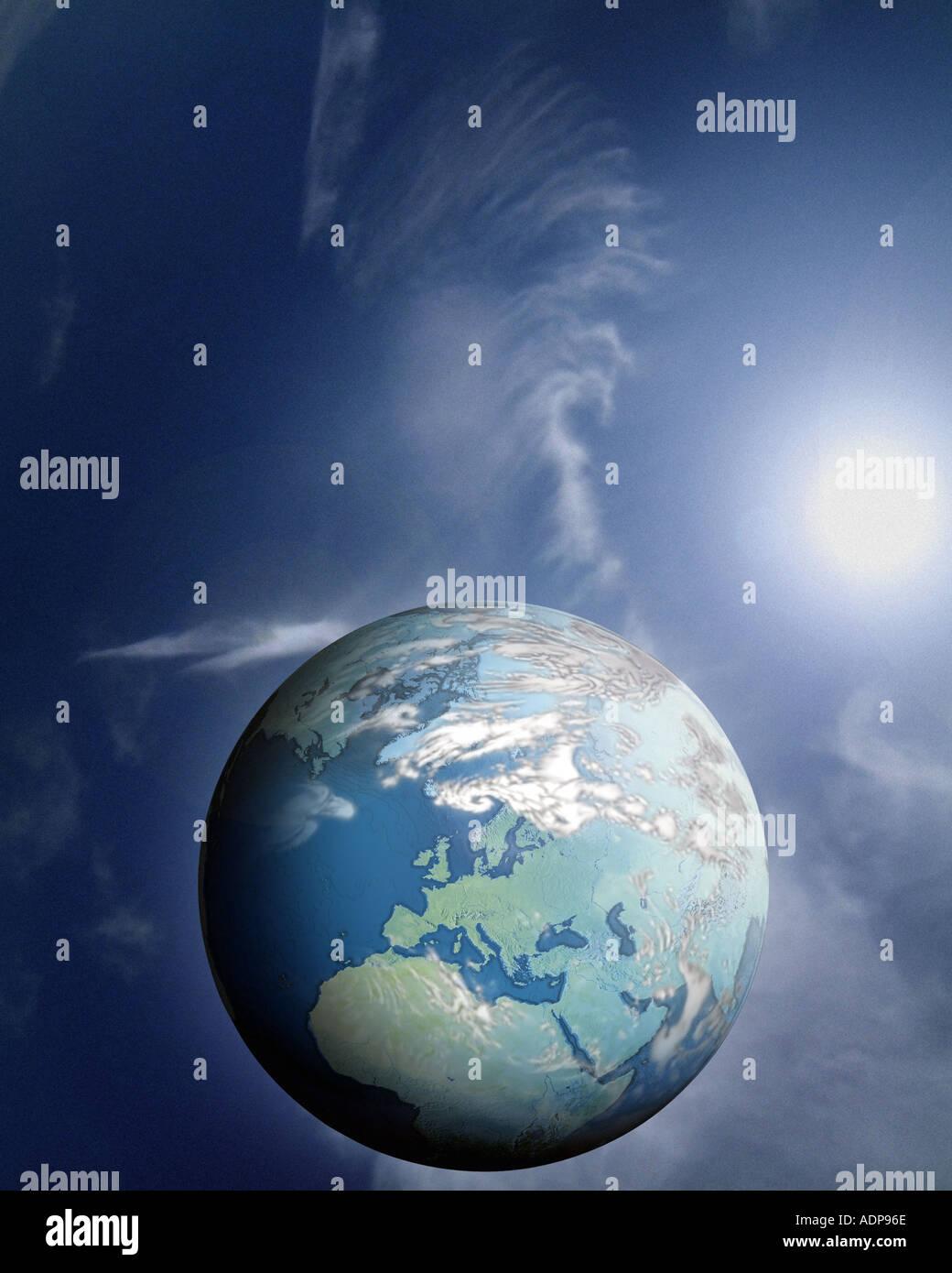 Konzept: Planetenerde Stockbild