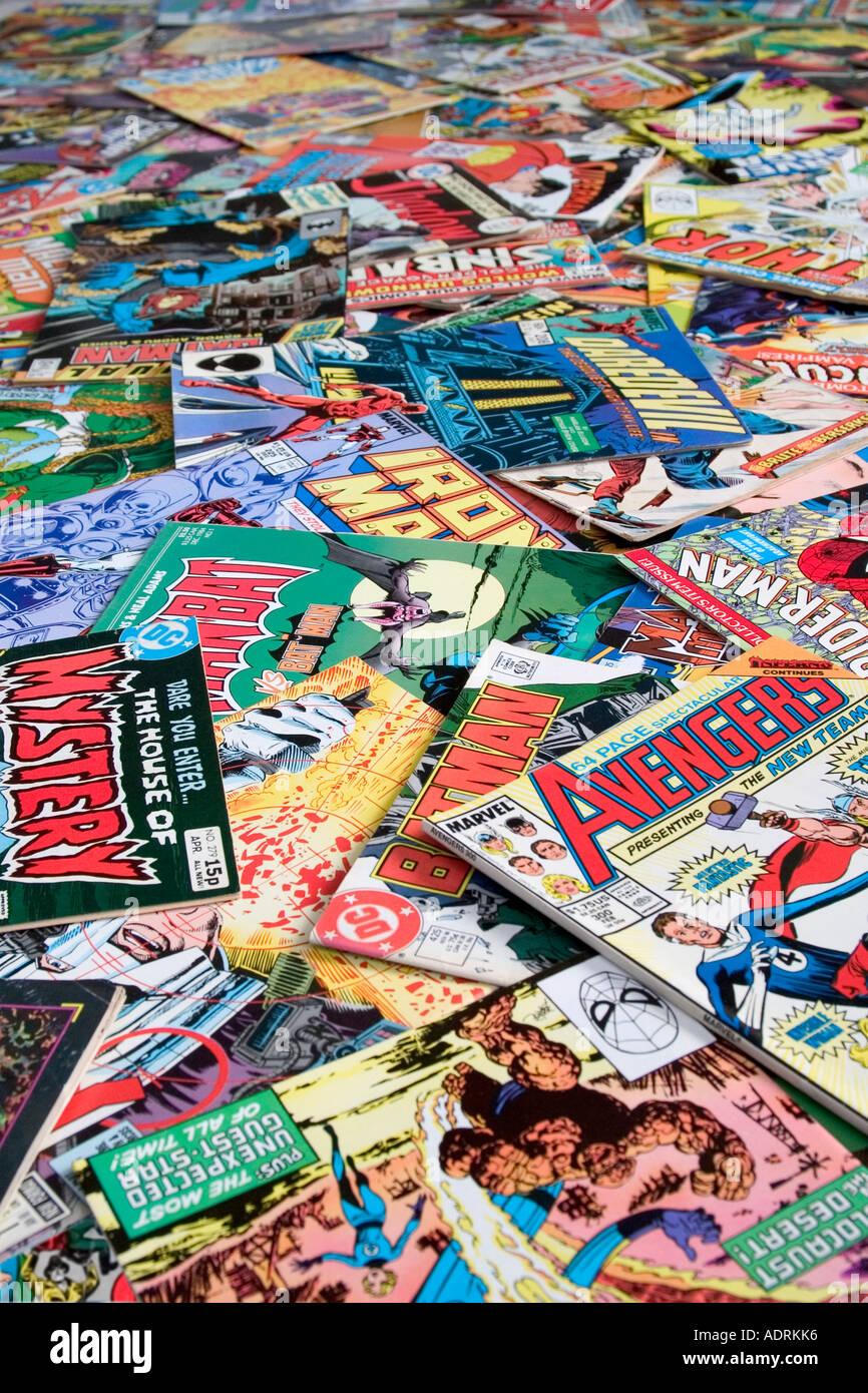 Comic-Bücher Stockbild