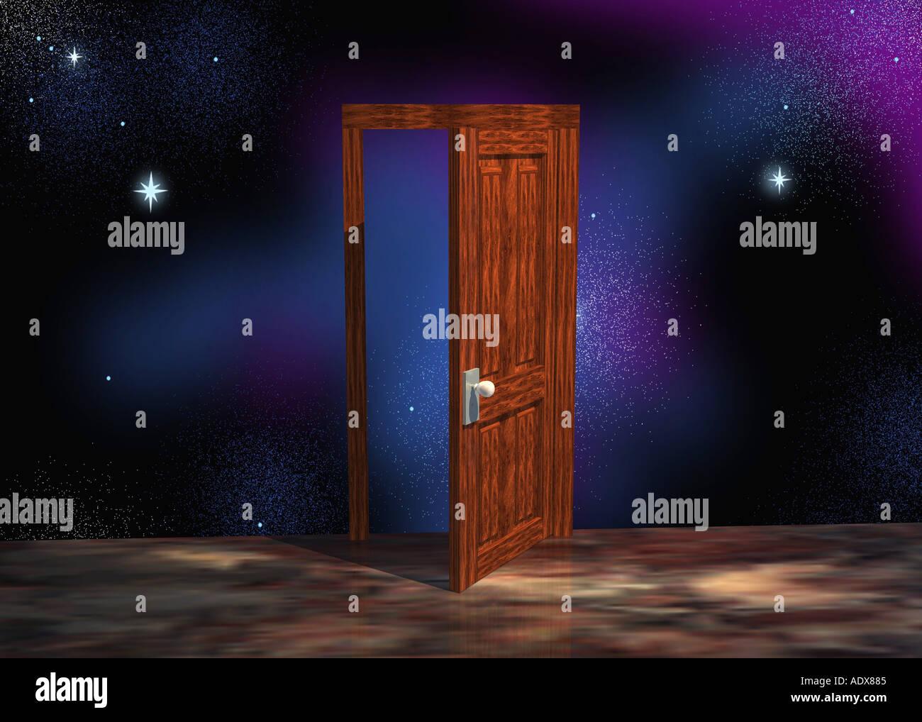 Illustrationen Tür Türrahmen Türpfosten Tür Rahmen Rahmung Raum ...