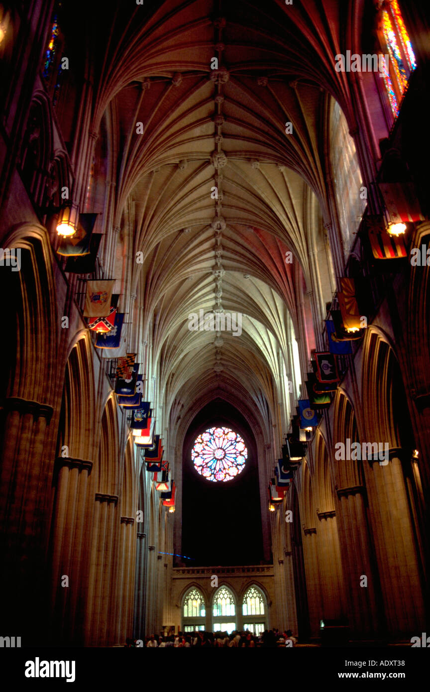 National Cathedral Washington Interior Stockfotos & National ...