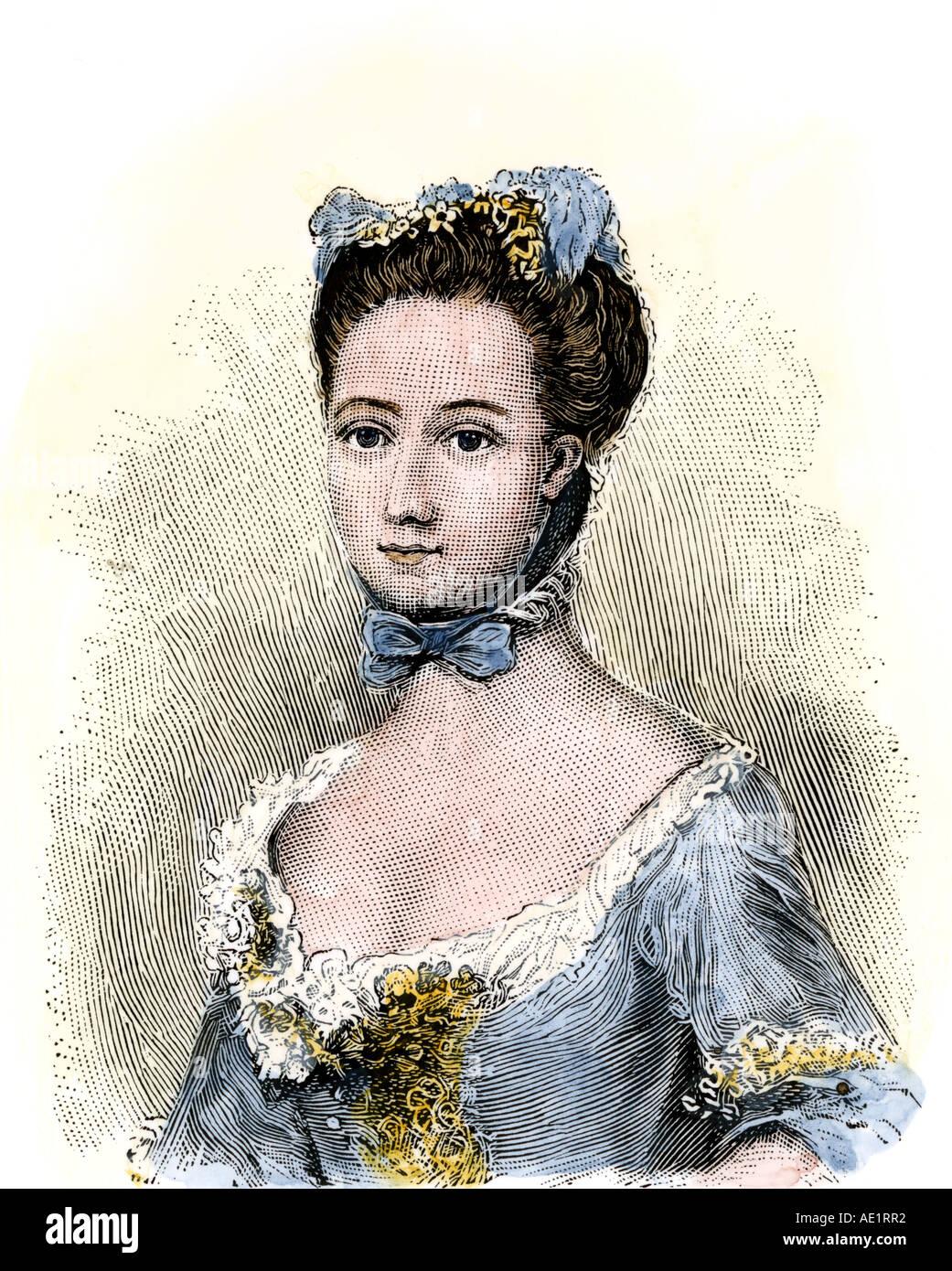 Baroness Fredericka von Riedesel Frau eines hessischen Offizier in der amerikanischen Revolution Stockbild
