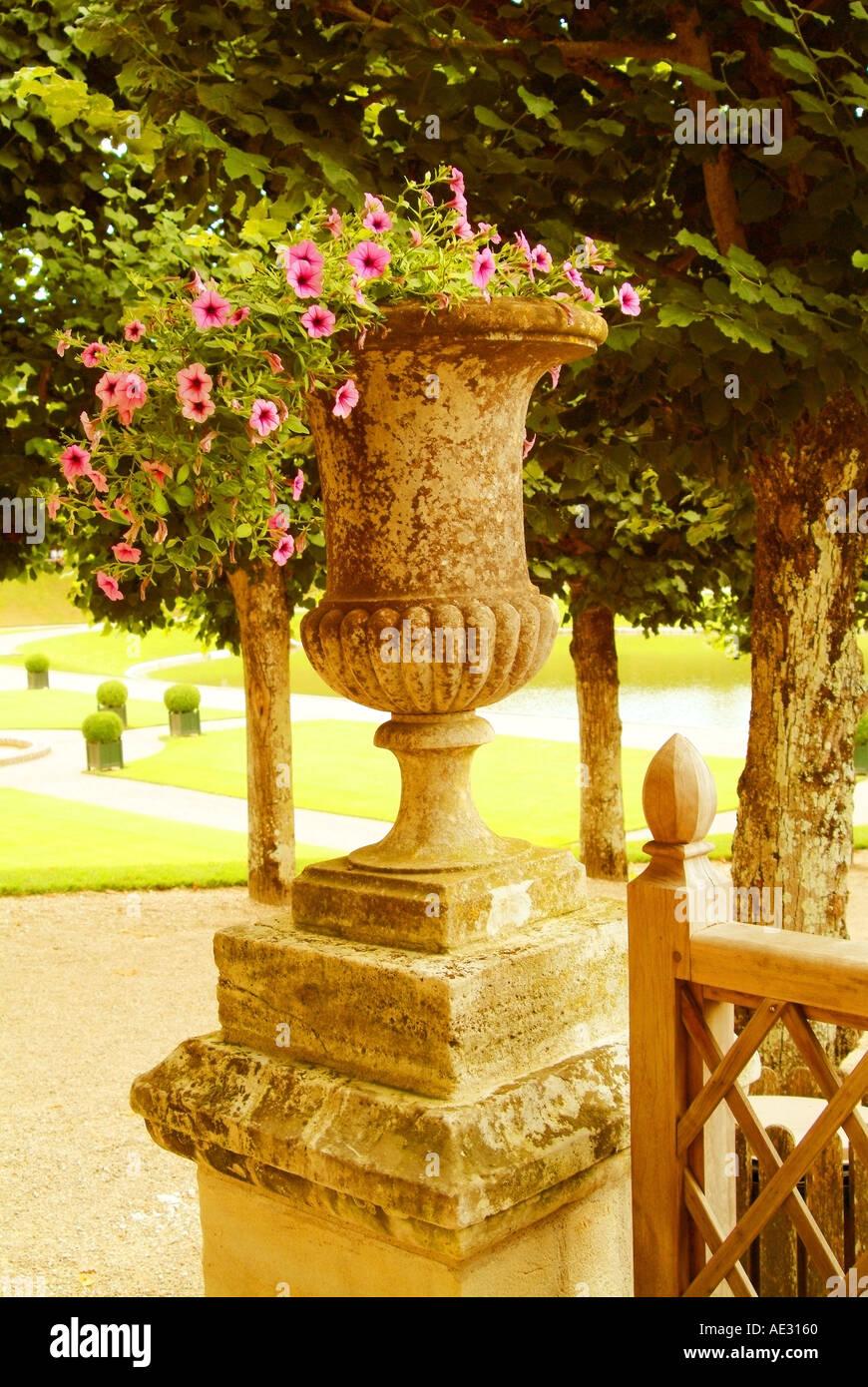 Frankreich-Renaissance-Schloss und Gärten von villandry Stockbild