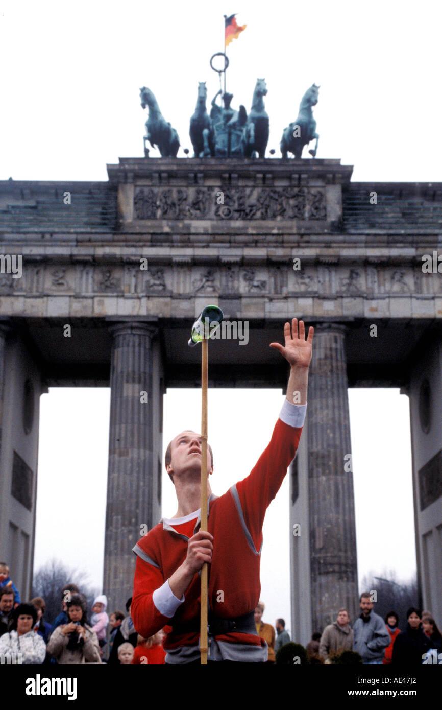 Fall der Berliner Mauer Deutschland 1989 Stockbild