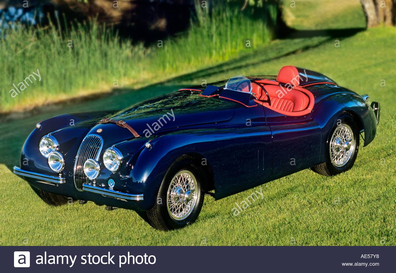 1954 Jaguar XK 120 Roadster Oldtimer Rennwagen, auf Gooding Auktionatoren in Pebble Beach Kalifornien 20. August 2006 verkauft werden Stockbild