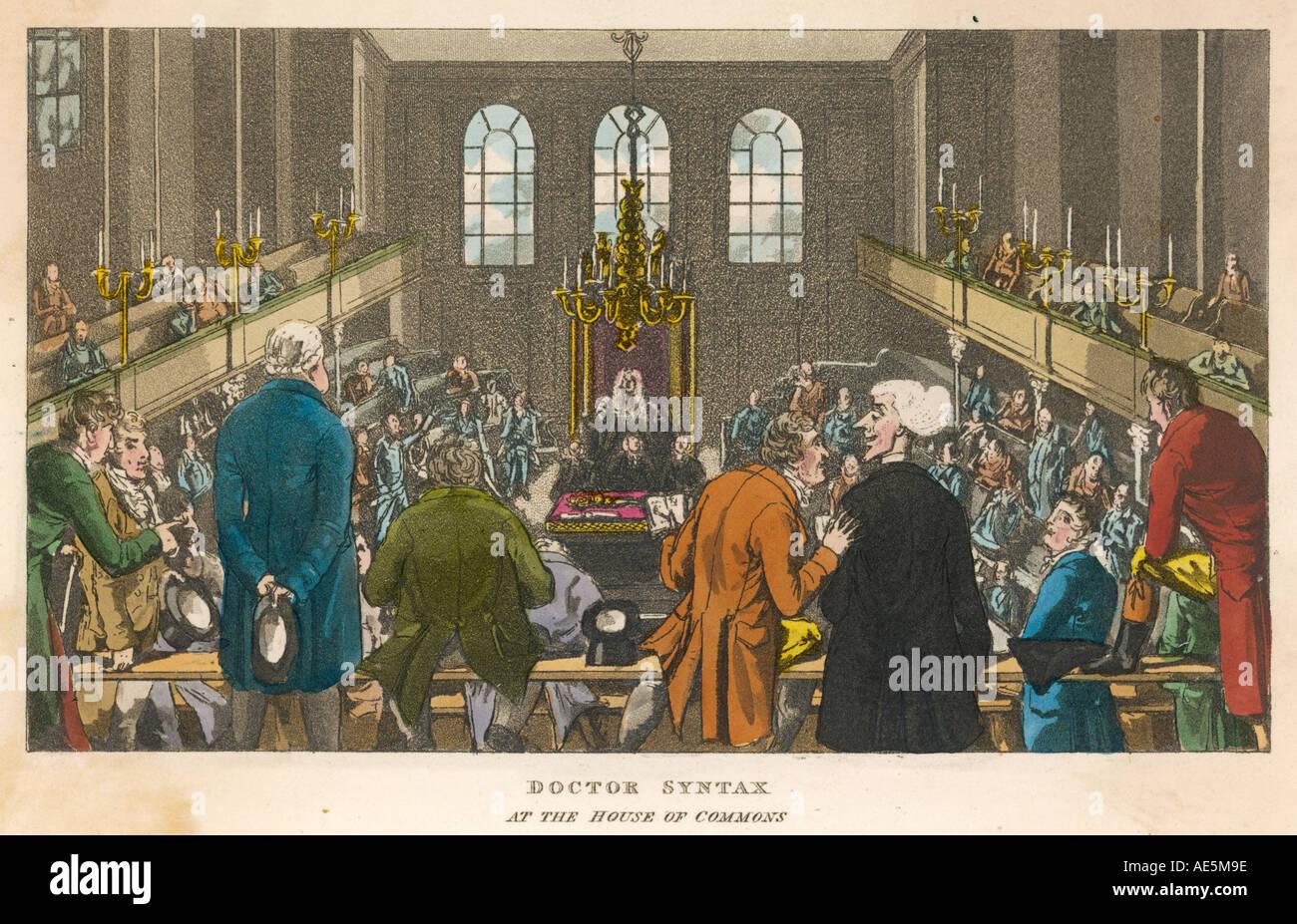 House Of Commons C.1810 Stockbild