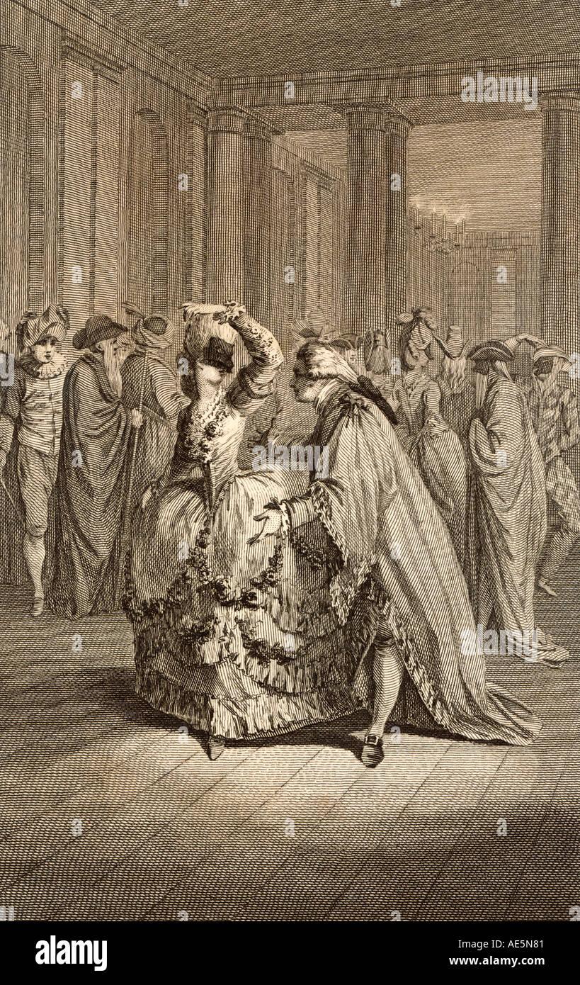Maskenball Frankreich 1780