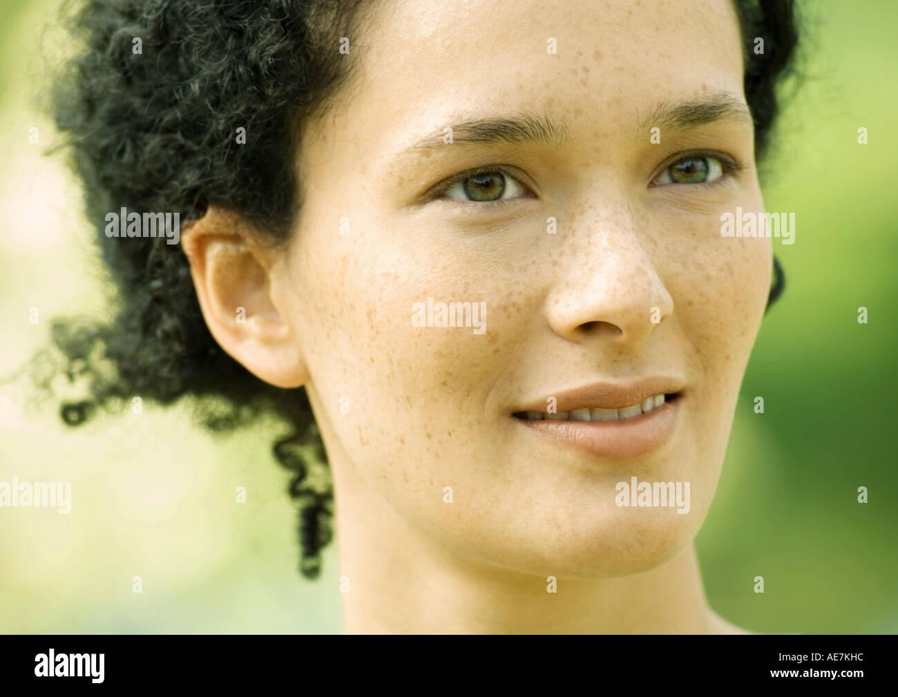 Frau, Porträt Stockbild
