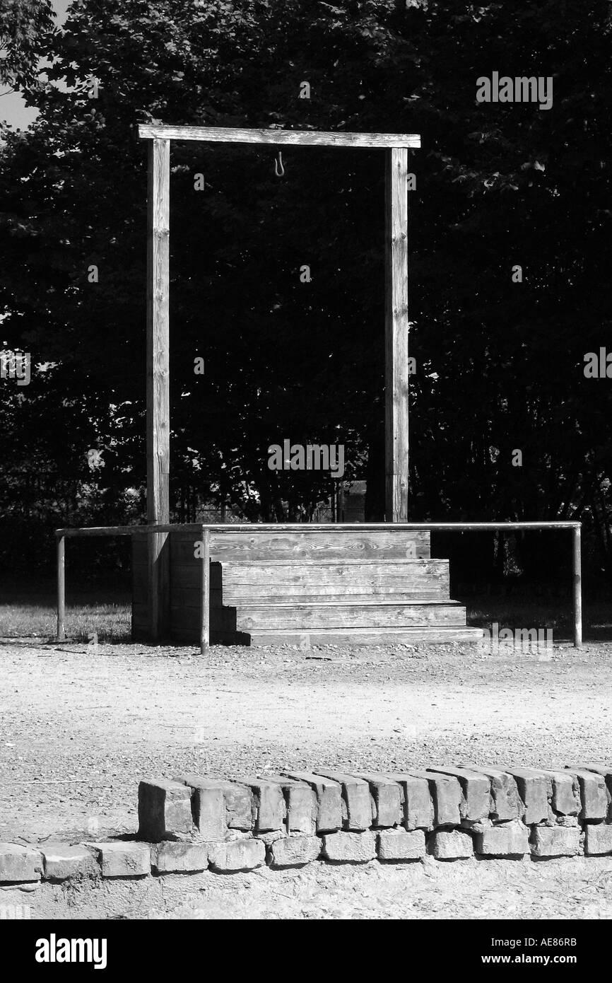 Galgen in Auschwitz-Birkenau, Oswiecim, Polen. Stockfoto