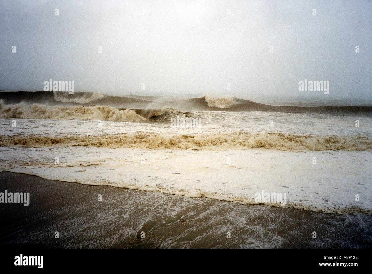 Grobe turbulenten Meer während Hurrikan in Baja California Mexiko Stockbild
