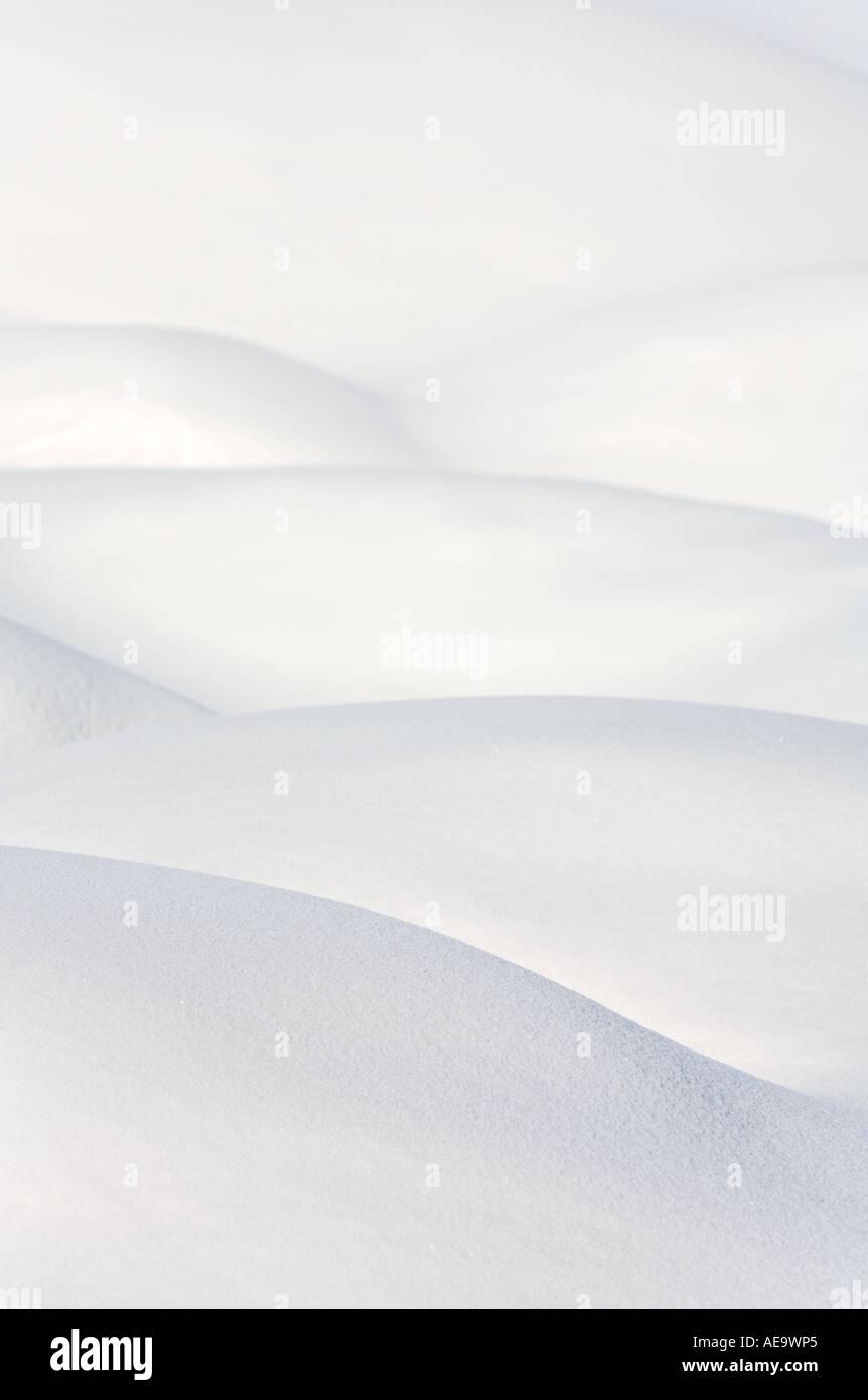 Weich geschwungene Schneewehen Stockbild