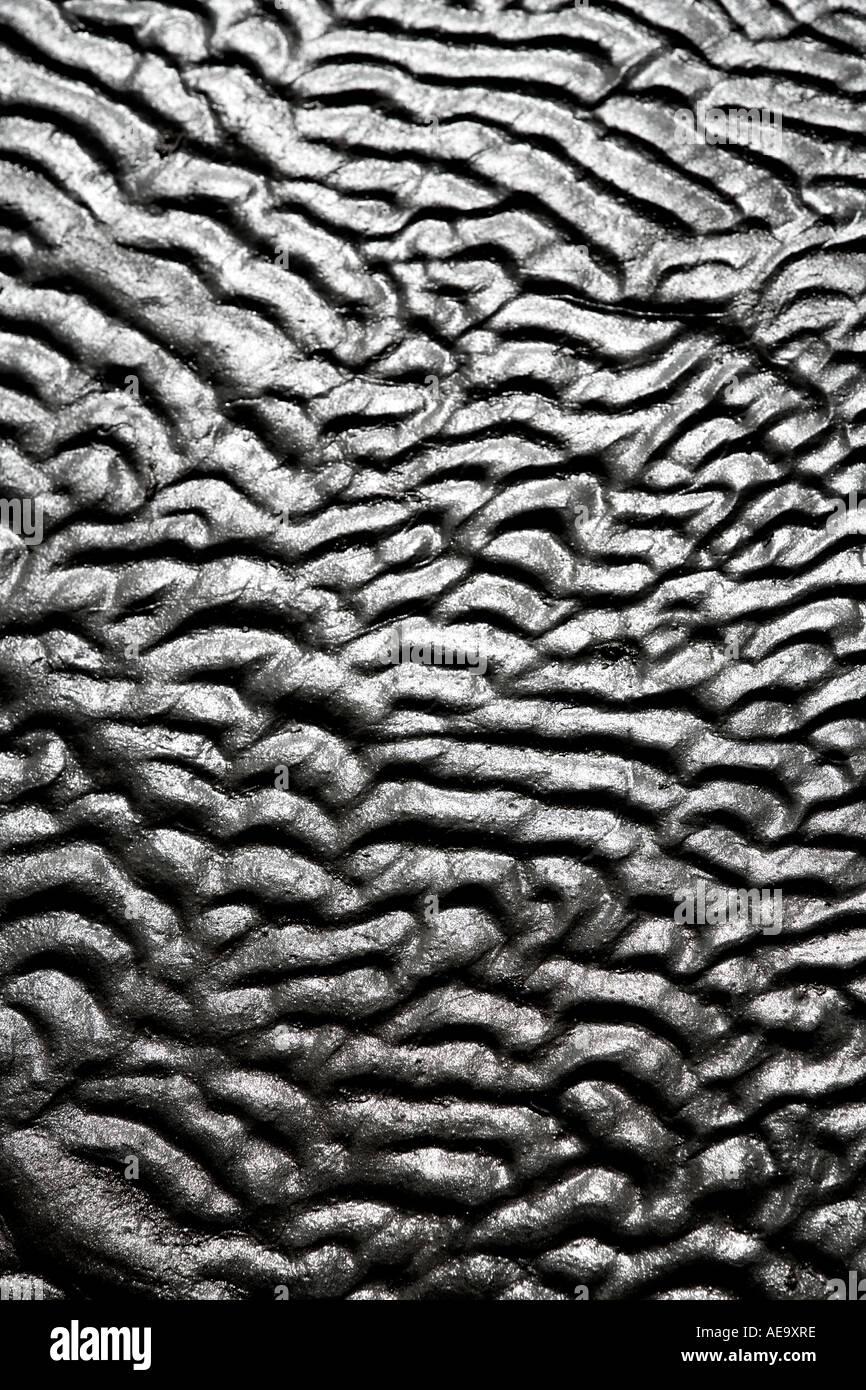 Wellenmuster im nassen Lehm und sand Stockbild