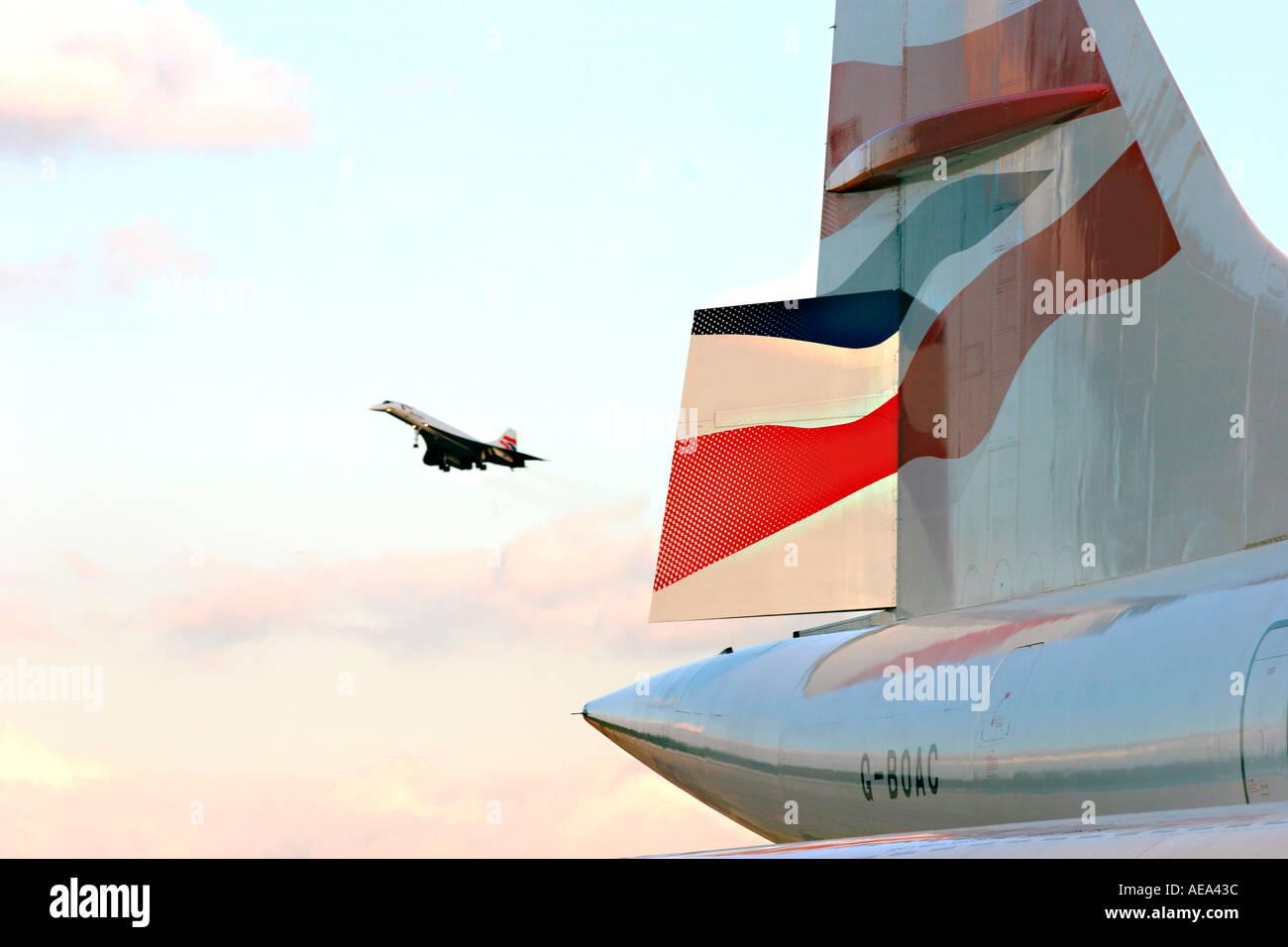 letzte Landung der concorde Stockbild