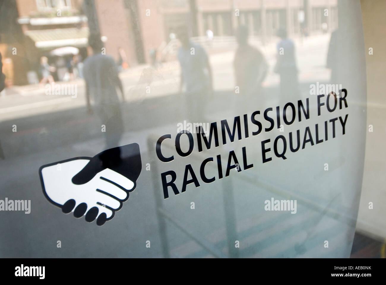 CRE-Kommission für Rassengleichheit Regierungsbüro in London UK Stockbild