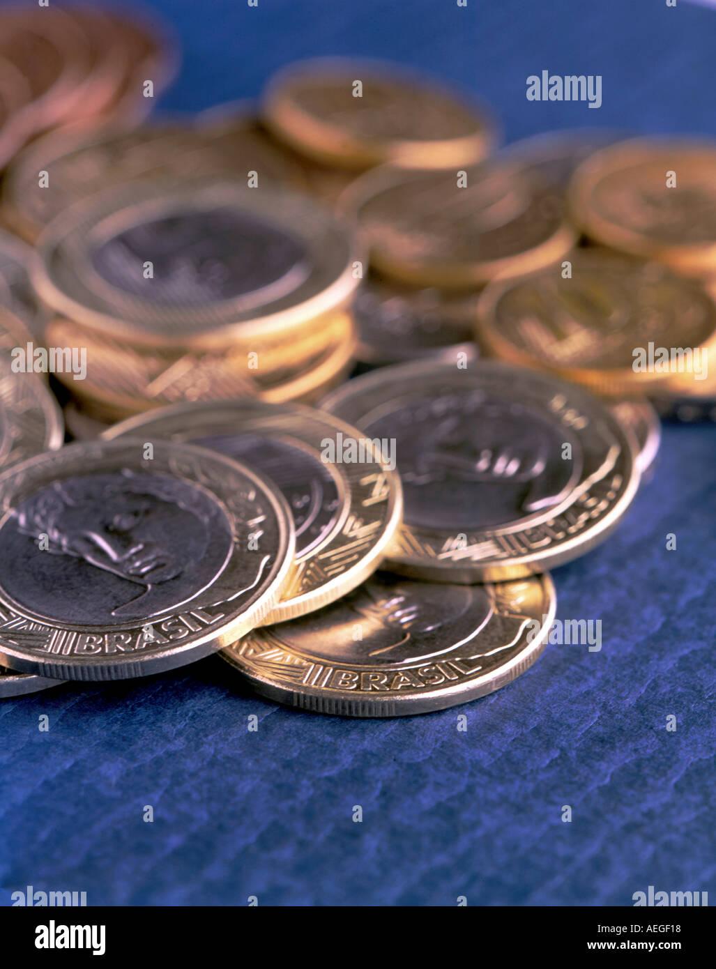 Büro Münzen Währung Wert Bildnis Golden Vergolden Eine Echte Münze