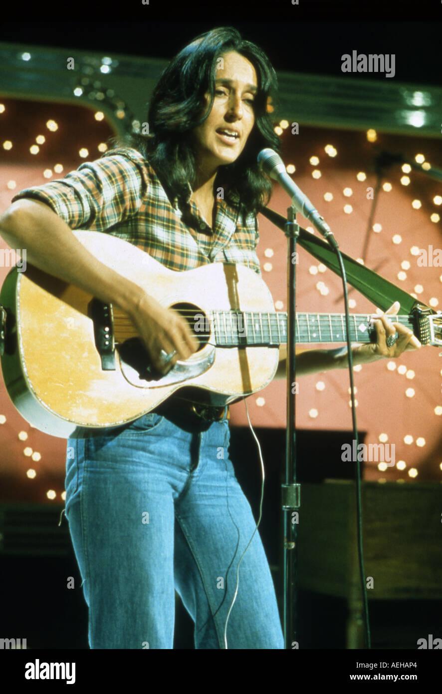 Folk-Sängerin JOAN BAEZ U.S. über 1965 Stockbild