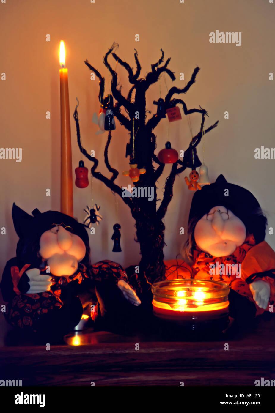 Halloween Thema.Ein Candle Light Halloween Thema Stillleben Mit Urlaub