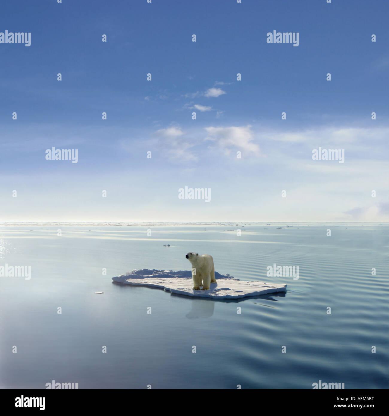 Gloabal Erwärmung Stockbild