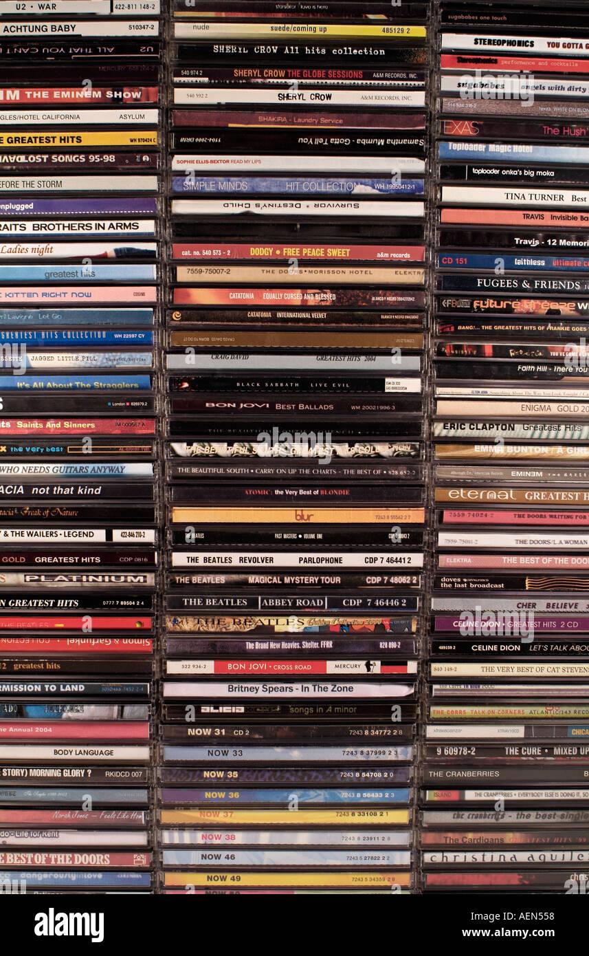 Sammlung von Musik-CDs Stockbild