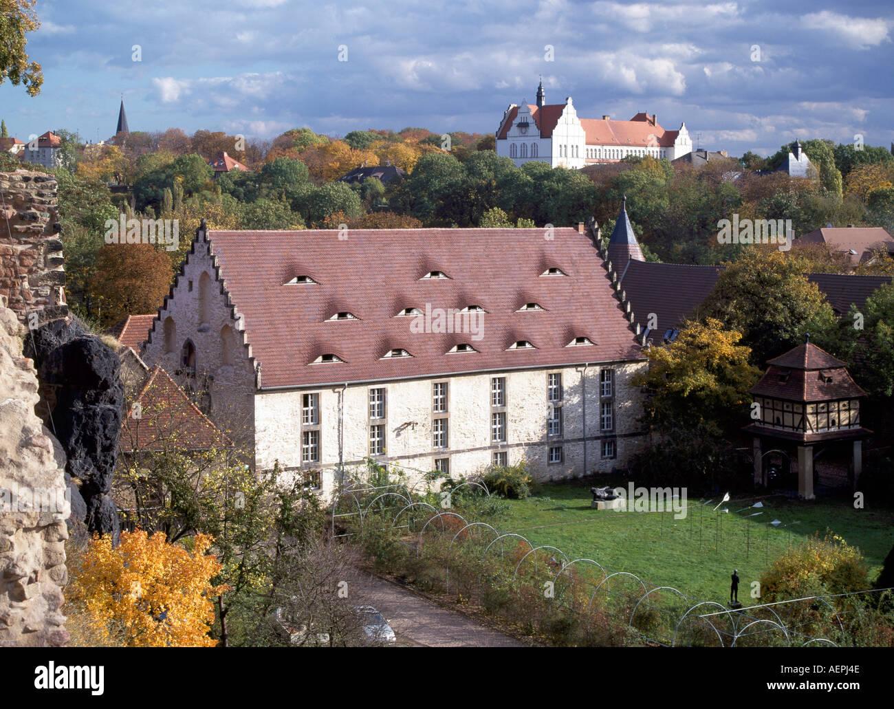 Halle, Burg Giebichenstein, Unterburg, Kornhaus 15. Halbmonatsschrift Stockbild