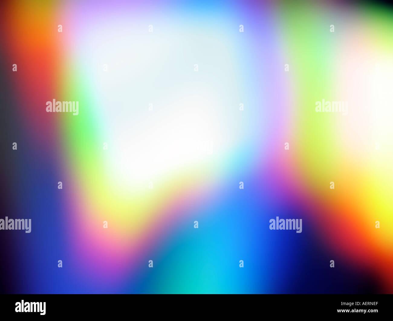 Regenbogen Bildschirm Bildschirmschoner Hintergrundbilder Stockfoto
