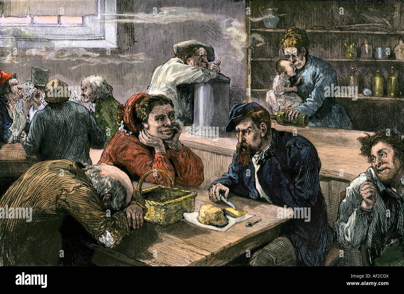 Bettler-Club im nördlichen Freiheiten Abschnitt von Philadelphia der ...