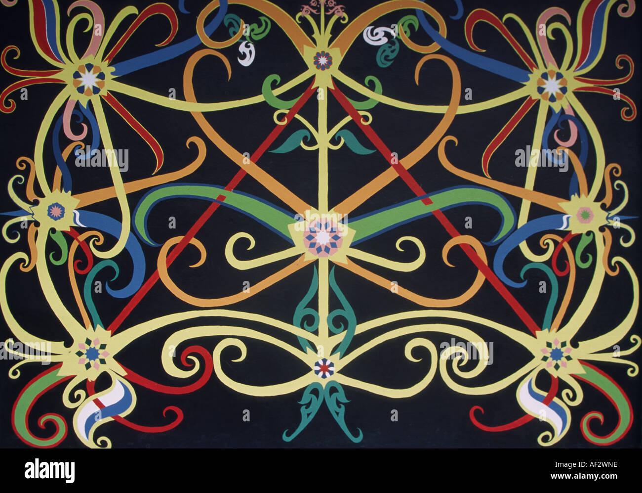 traditionelle iban motiv design muster kunstwerk sarawak borneo - Iban Muster