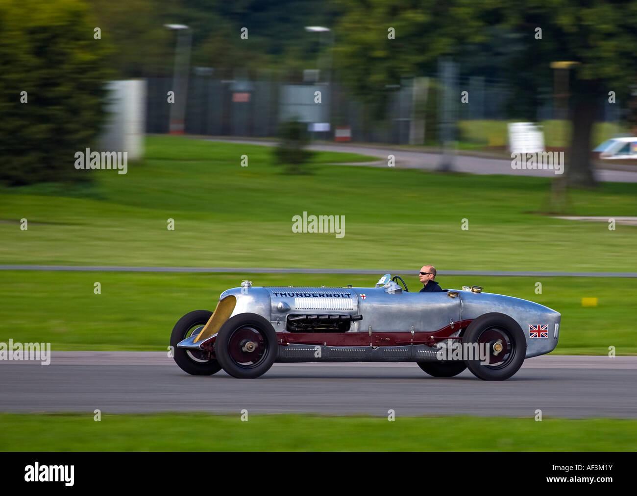 1928 unter Beweis gestellt Bentley 6,5 Liter Thunderbolt Rennwagen auf Dunsfold Flugplatz Surrey UK 2007 Stockbild
