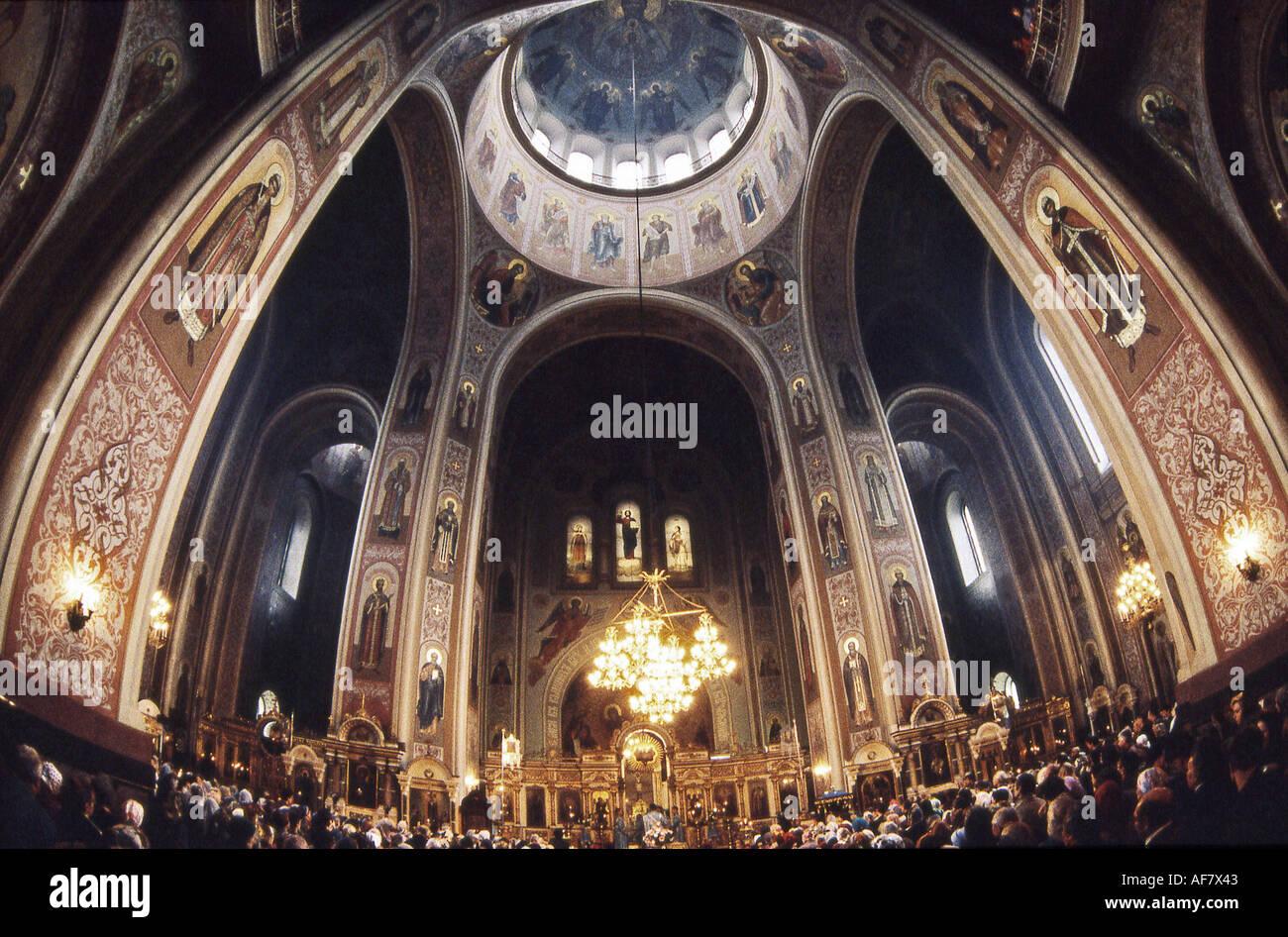 Weihnachten Orthodox.Geographie Reisen Russland Krasnodar Kirchen Ekaterina Kirche