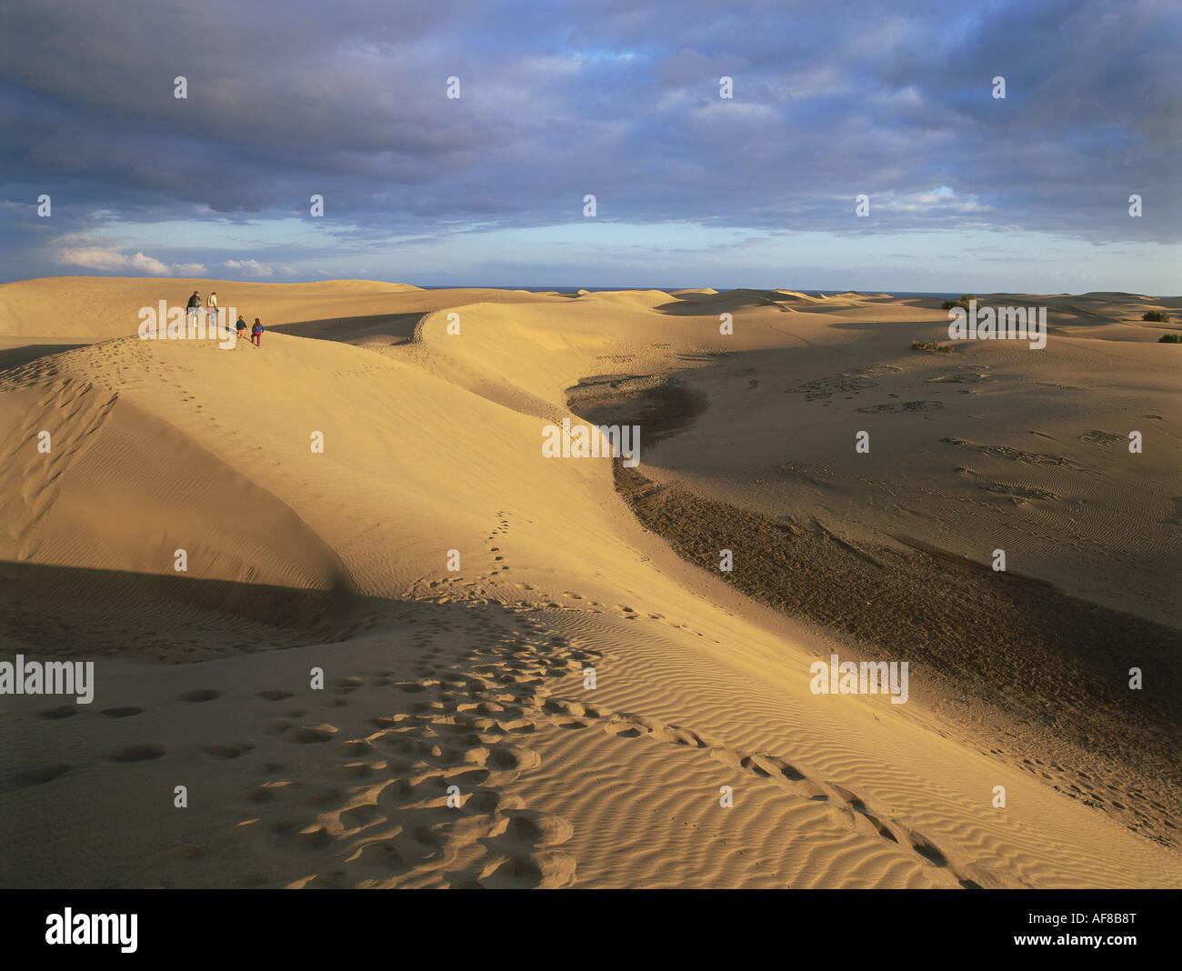 Dünen, Maspalomas, Gran Canaria, Kanarische Inseln, Spanien Stockbild