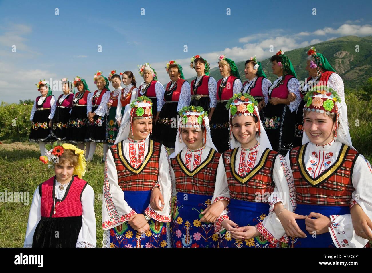 Folklore-Gruppe, Rosenfest, Karlovo, Bulgarien Stockbild