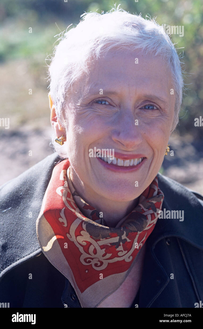 Sara Paretsky, Autor des außergewöhnlichen Kriminalromans und Schöpfer des V I Warshawski, Chicago Sleuth par excellence Stockbild