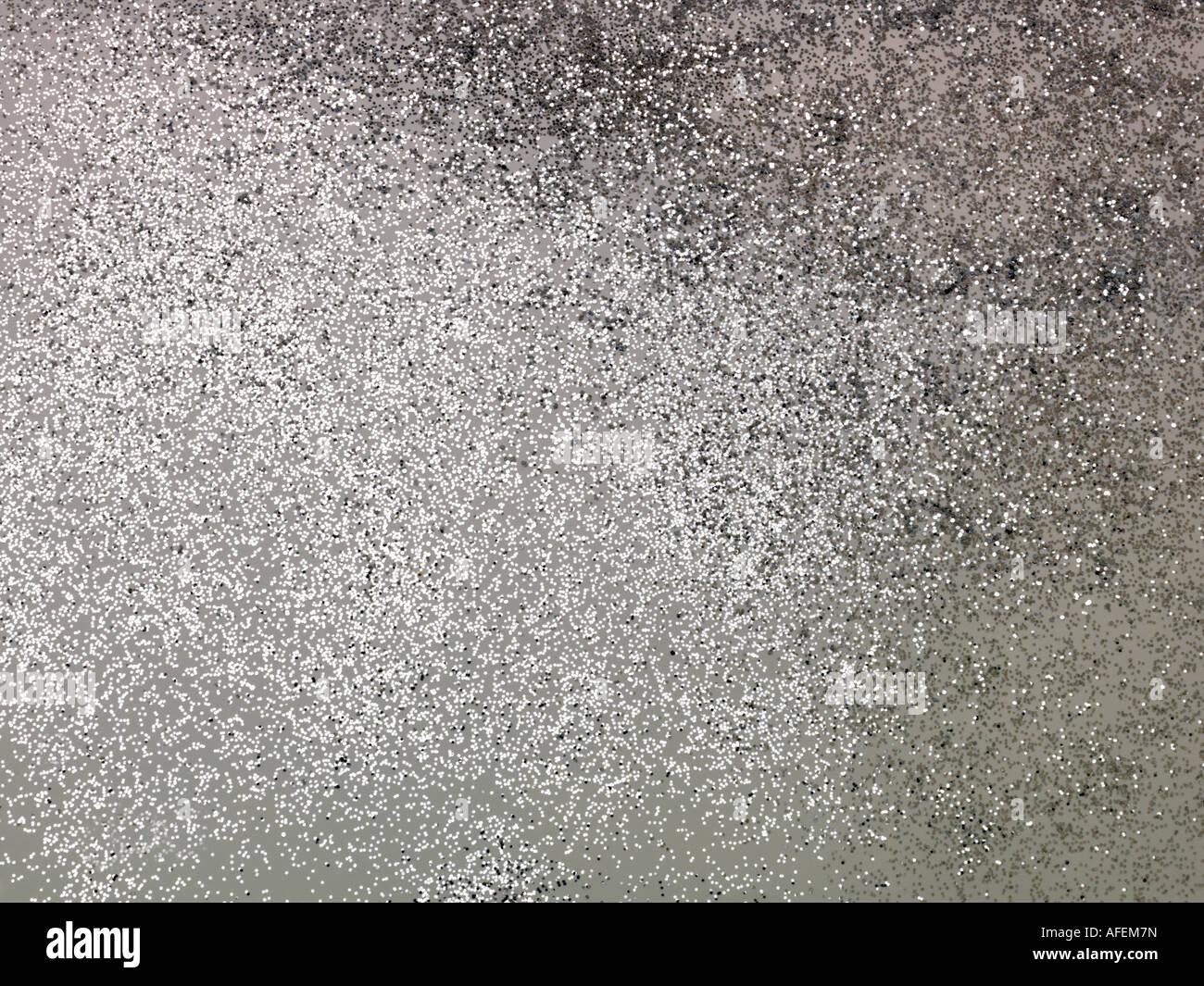 Silber Glitzer Hintergrund Stockbild