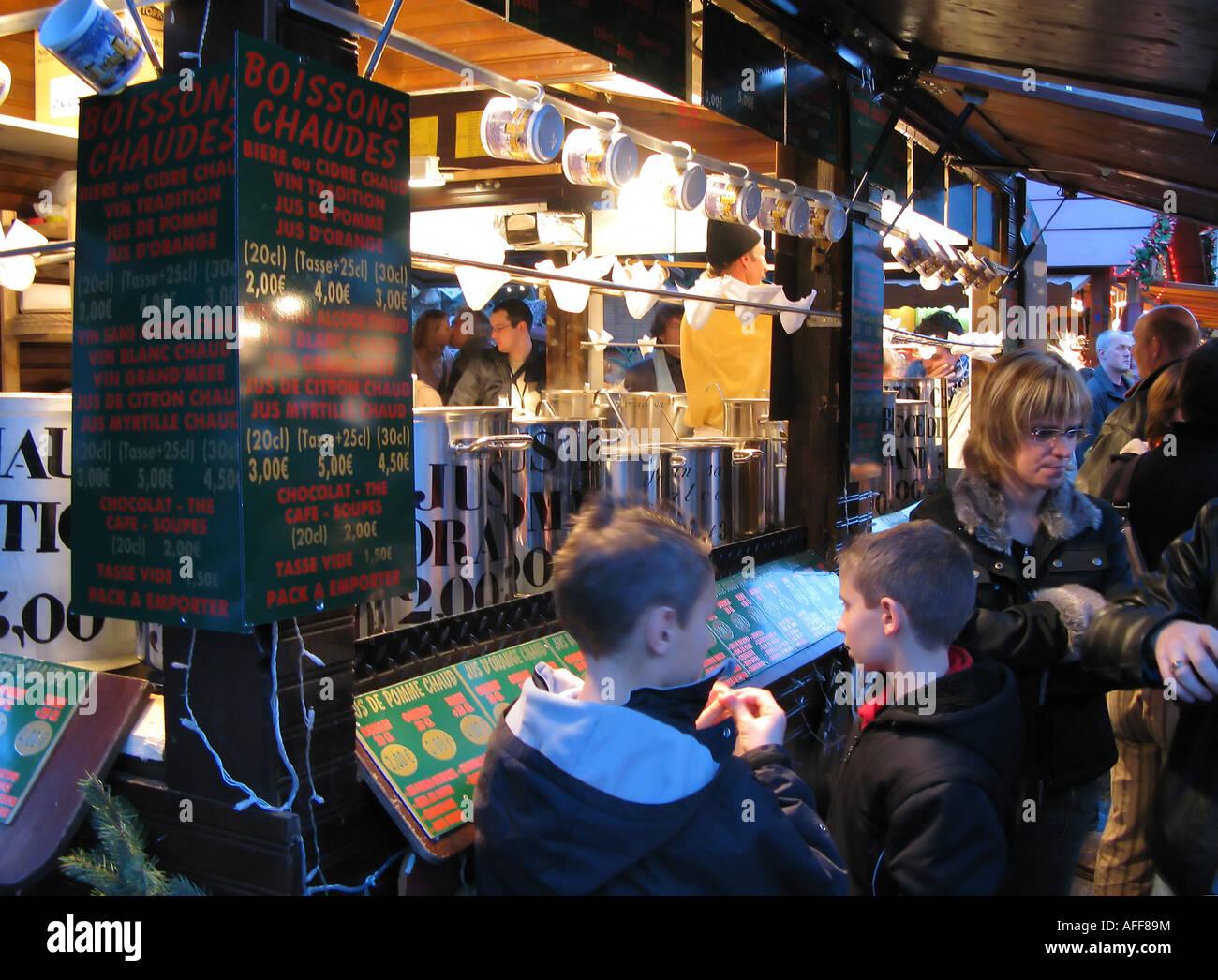 Warm und alkoholfreie Getränke Stall, Weihnachtsmarkt ...