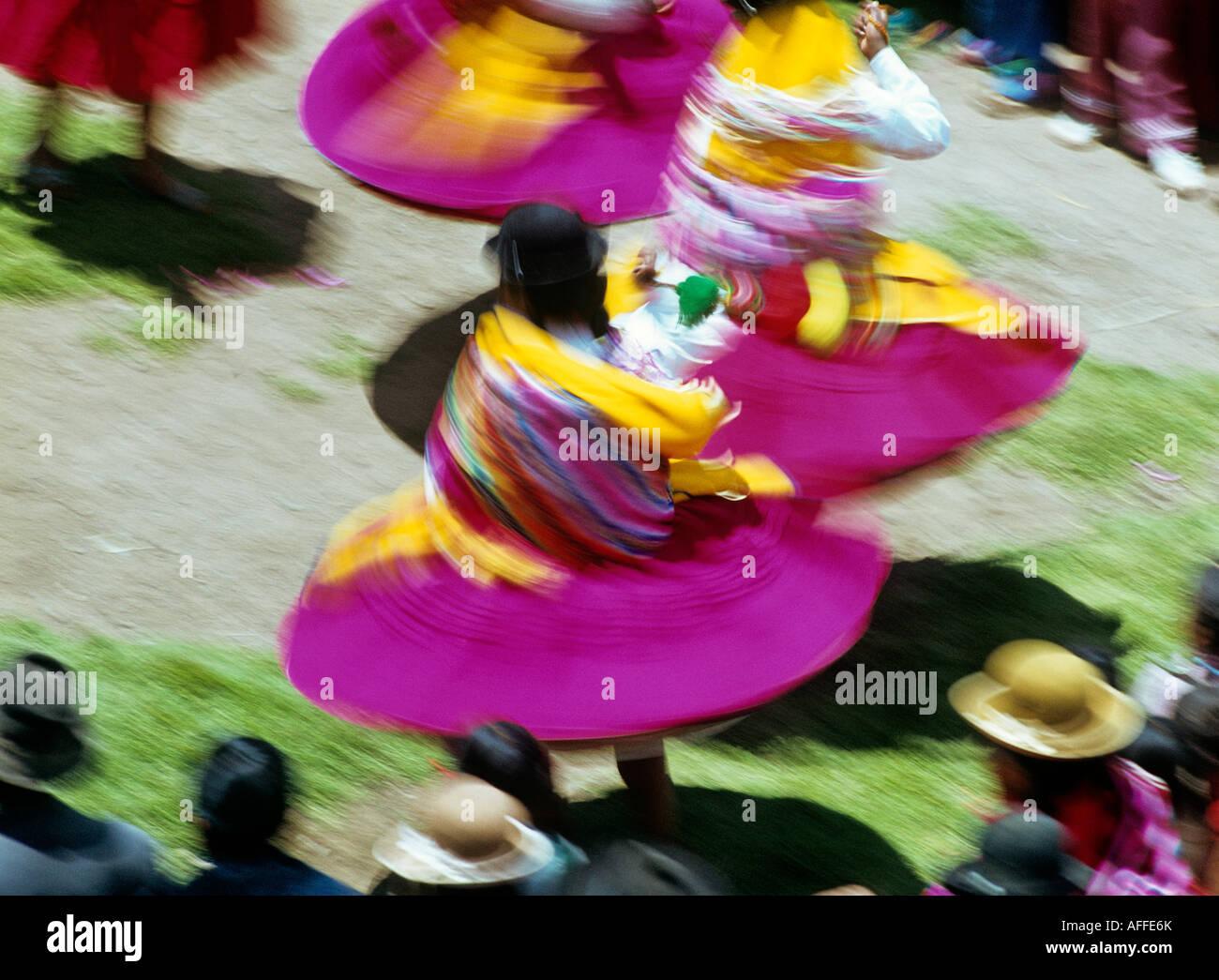 indische Frauen Tanz Folklore Festival De La Virgen De La Calendaria Stadt Puno, Peru Stockbild