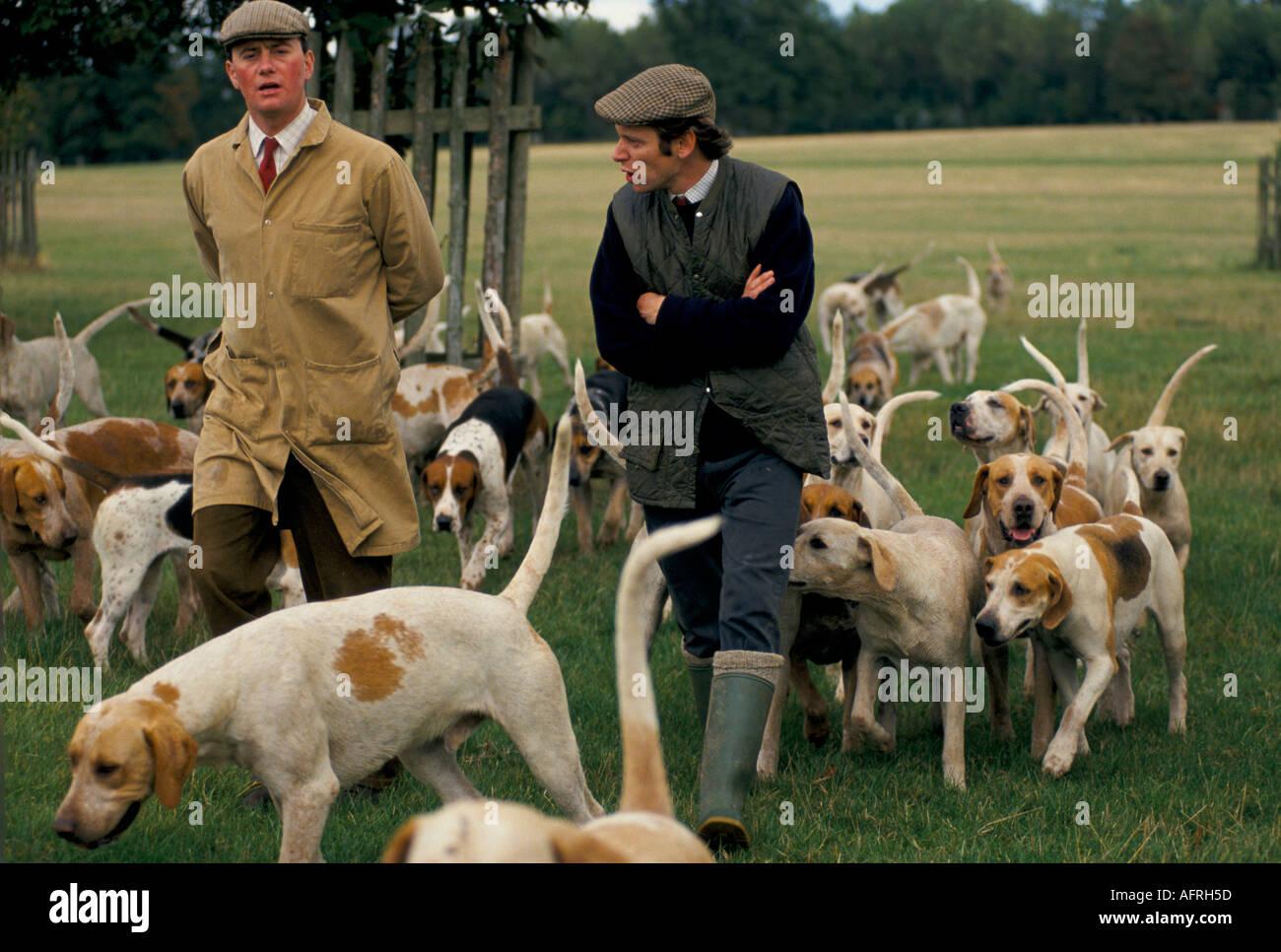 Herzog von Beaufort Jagd Gloucestershire. Zuordnung Telegraph Magazine circa 1995 HOMER SYKES Stockbild