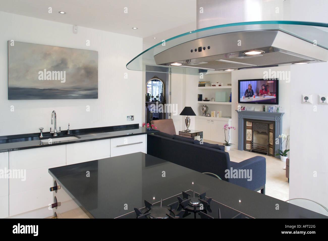 Malerisch Offene Küche Mit Wohnzimmer Sammlung Von Glas & Chrom Dampfabzug In Moderne Küche